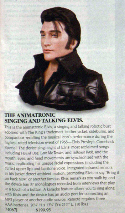 sky mall creepy elvis