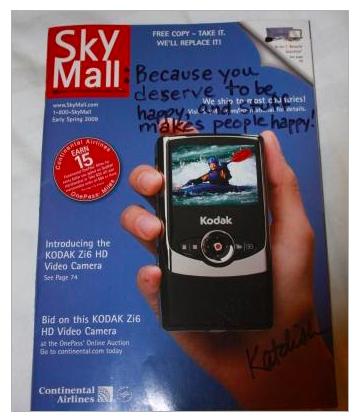 sky mall autographed