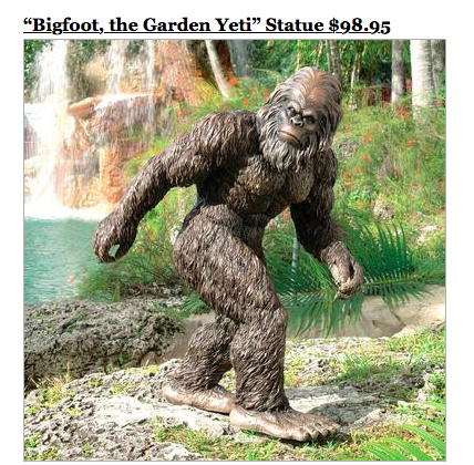 sky mall big foot