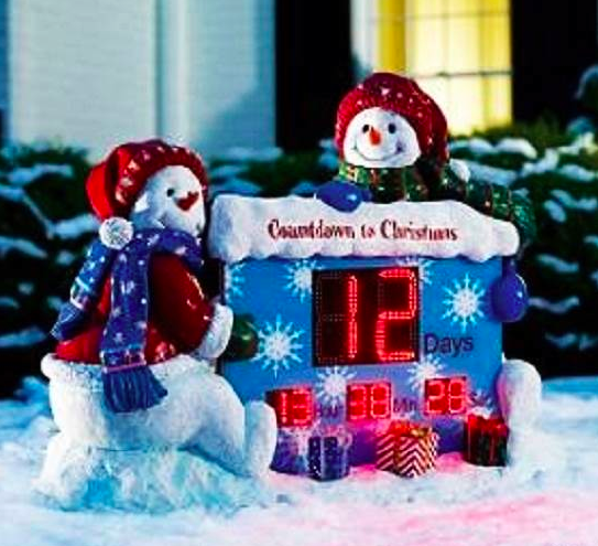 sky mall christmas countdown snowman