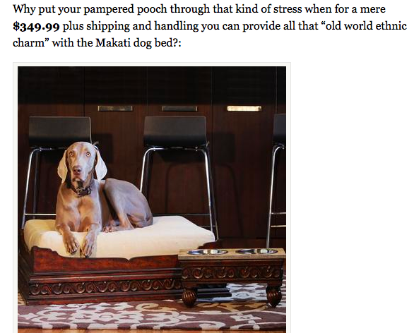 sky mall dog bed