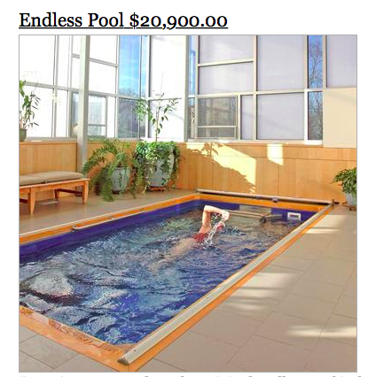 sky mall endless pool