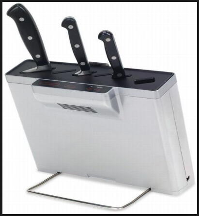 sky mall germ eliminating knife block