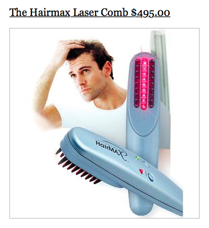 sky mall hairmax laser comb
