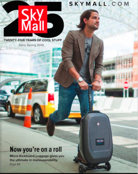sky mall luggage scooter