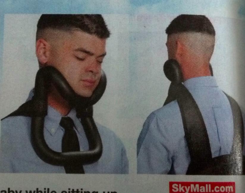 sky mall neck brace