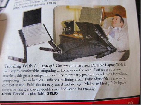 sky mall portable laptop table