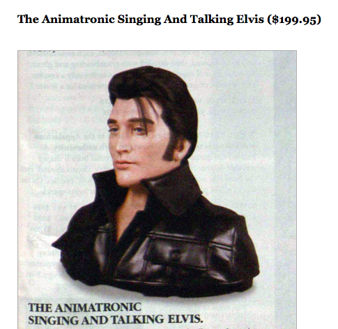 sky mall singing elvis